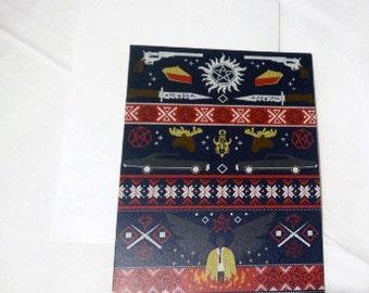 Supernatural SPN Holiday Christmas Card