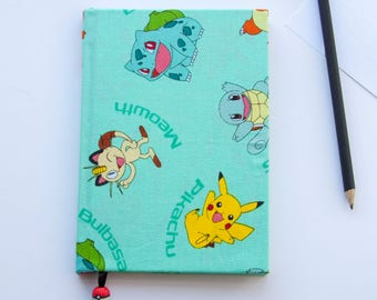 "Nintendo Pokemon Characters 5""x7"" Hardcover Notebook Teal"