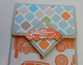 Retro Car Themed Giftcard Holder