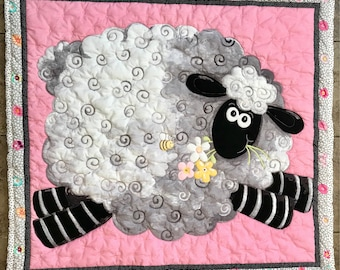 Leaping Lamb Baby Quilt