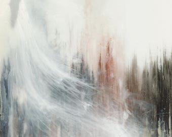 Canvas Print - Modern Abstract Pouring Art Print, 12x16 18x24 24x32, Unframed
