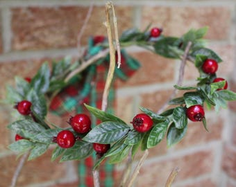 Holiday flower crown, olive leaf crown, holly berry crown, winter flower crown, christmas flower crown, flower crown, floral crown