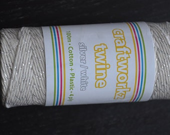 Silver and white bakers twine