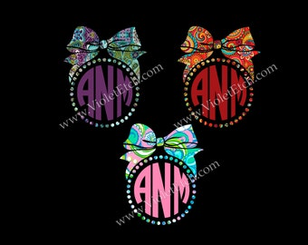 bow monogram-bow decal-lilly inspired-yeti decal-tumbler decal-car window decal-ozark tumbler