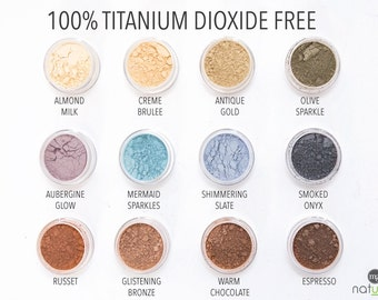 Natural vegan mineral eyeshadow, Titanium Dioxide Free perfect for sensitive eyes
