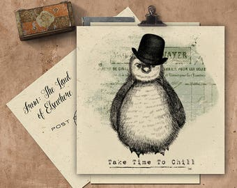 Take Time To Chill Handmade Seeded Paper Card.