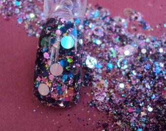 Nail Art Acrylic Gel Glitter mix      HOLOGRAM