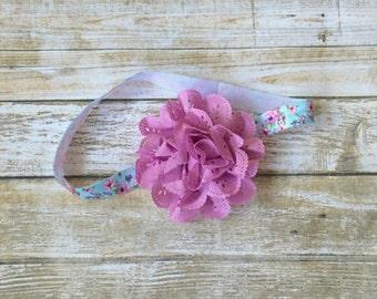 Purple Headband, Purple Baby Headband, Mauve Headband, Baby Headband, Floral Headband, Baby Girl Headband, Infant Headband, Newborn Headband