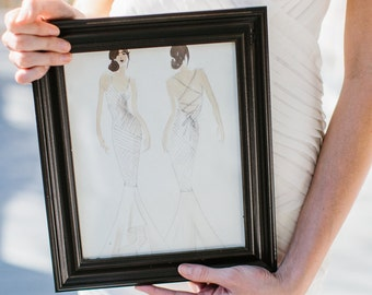 Fashion Illustration of your Wedding Gown