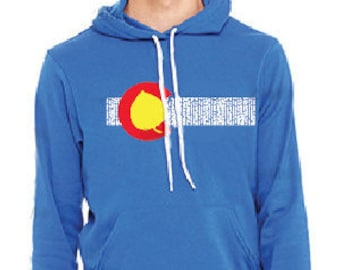 Aspen Leaf Colorado Flag *ICONIC* Hoodie CLastic Collectible Limited lzfhsUYEC
