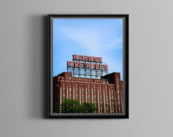 """Farine 5 Roses - Montreal photography - Five roses factory - Urban wall art - Industrial decor - Montreal architecture art - """"Landmark"""""""