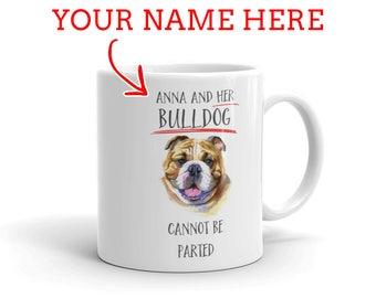 English Bulldog Gift - Personalized Bulldog Mug - Gift For Bulldog Lovers - Bulldog Mom - Bulldog Dad - Dog Lover Gift