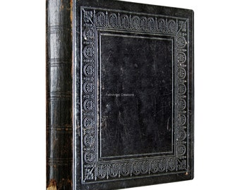 3 Ring Binder, Antique Black Book, 4 Sizes Available!