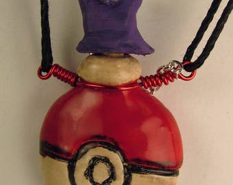 Pokemon Grimer Oil Diffuser Necklace  Hand Sculpted OoAK  (C)