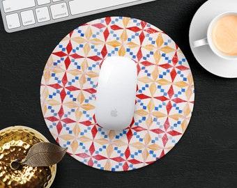 Portuguese Mouse Pad Morocco Mouse Mat Desk Accessories Decorative Mouse Pad Women Mouse Mat Computer Geometric MousePad Office Supplies