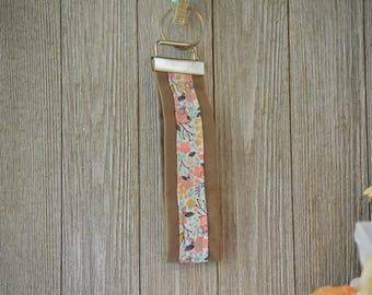 Flower Key Fob, Key Ring, Key Chain, Wristlet