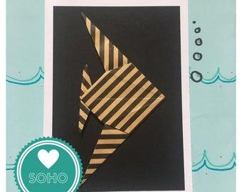 Origami Blank Greetings Card - Angel Fish