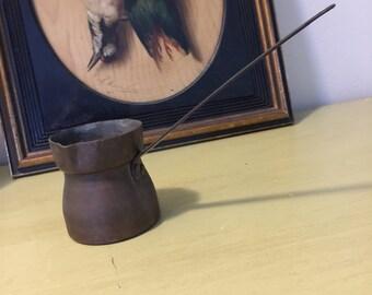 Turkish/Persian/Greek copper coffee pot