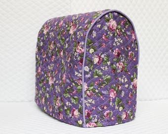 Grape Floral Quilted KitchenAid Mixer Cover