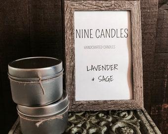 Lavender & Sage Candle / Party Favor / Home Decor