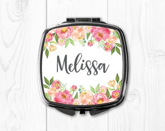 Bridesmaid Gift Ideas Bride Gift from Bridesmaid Gift for Bride Gift from Sister Bride Gift from Mother Peach Bride Gift Mirror Personalized