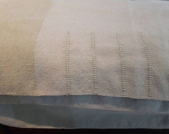 Vintage Hudson's Bay 4 Point Blanket, 100 Percent Wool, Seafoam Green Colour Camp Blanket, Warm, Quality, Durable and made for the outdoors