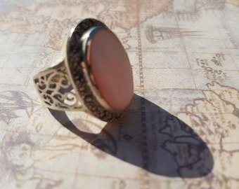 Vintage 1970's Silver Opal Ring