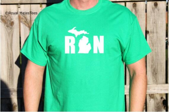 Run Michigan Hoodie, Running shirt, Michigan Shirt, gifts for runners, michigan gifts