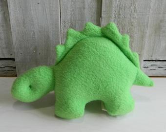 Little green stuffed dinosaur, stuffed stegosaurus, baby shower gift, dinosaur baby toy, baby girl toy, baby boy toy, dinosaur gift idea
