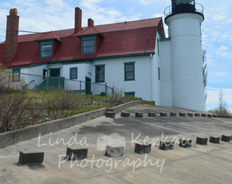 Point Betsie Lighthouse on Lake Michigan in Frankfort Michigan