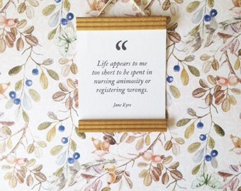 Miniature Dollhouse 1:12 Scale Quote Art Print, Jane Eyre Quote