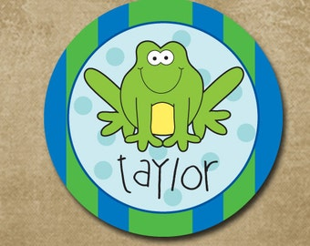 Frog Plate, Melamine Frog Plate for Kids, Boys Frog Dinnerware, Toad Plate