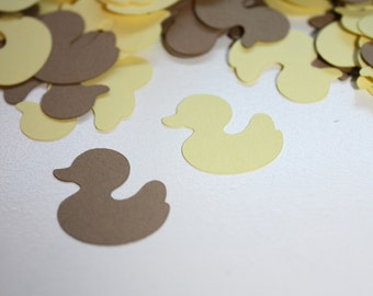 Rubber Duckey Die Cut Confetti Table Decor 200 pieces - Yellow and Brown