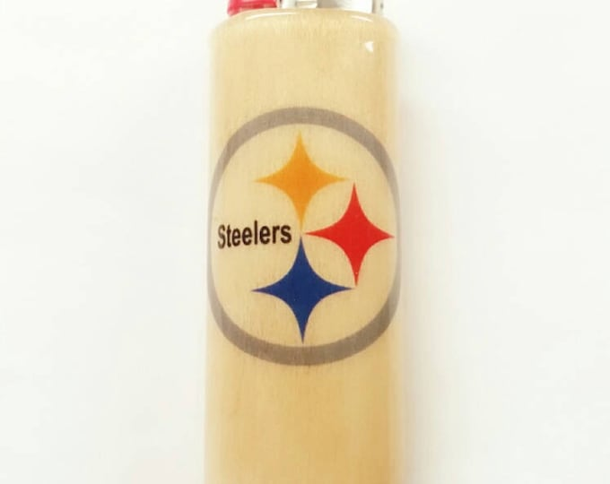 Pittsburgh Steelers NFL BIC Lighter Case Holder Sleeve Cover