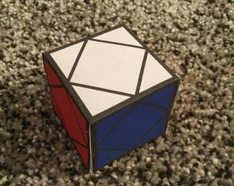 Skewb Papercraft Rubik's Cube