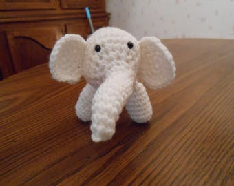 New HANDMADE Crocheted White Elephant