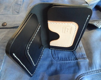 Leather long wallet Leather wallet Mens wallet Leather biker wallet Biker wallet Card holder Leather trucker wallet Veg tan wallet Wallet