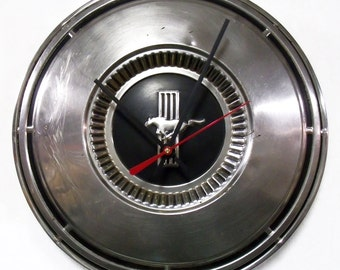 Mustang Wall Clock - 1968 - 1970 Ford Mustang Hubcap Clock - 1969 Muscle Car Clock - Pony Car - Automotive Clock