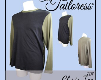 Chris Tee PDF Sewing Pattern Tshirt Sewing Patterns for Men Shirt Sewing Patterns Sewing Pattern Tee Pattern Menswear Pattern|Men's PDF