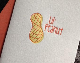 Letterpress Lil' Peanut Note Card (Set of 5)