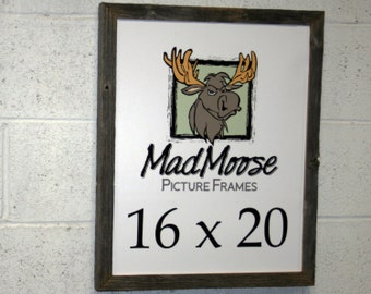 """16x20 BarnWood [Chunky x 1.25""""] Picture Frame"""