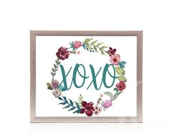 Valentines Day Decor Valentines Decorations Print Printable Art Print Wall Art XOXO Love Gallery Wall
