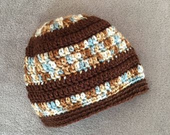 Crochet Baby Beanie (3-12mos.)