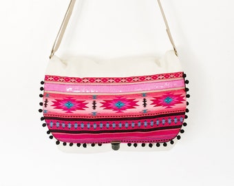 "Canva schoulder bag in ethnic style ""Vegas""/ wallet/ schoolbag"