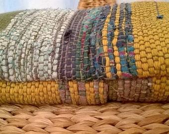 ECO, fodera per cuscino 100% ecologica, tessuta a telaio con materiali ri-generati SU ORDINAZIONE