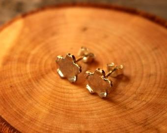Sakura Cherry Blossom Earrings Silver Pair