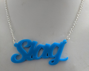 SLAG Necklace - Blue