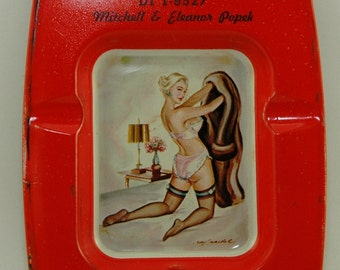 Naughty and Nice 1940's Girlie Advertising Ashtray