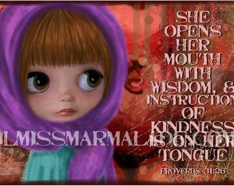 11x17 NEW Proverbs 31 Woman Mixed Media Style Art Print 11x17