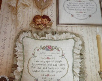 Vintage Anniversary Themed Cross Stitch Patterns